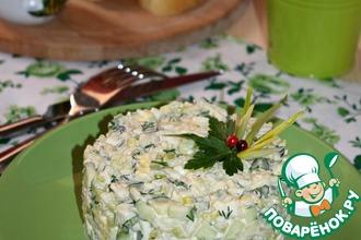 Рецепт: Салат с черемшой Весенний