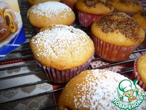 I have a cinnamon only part of the muffins, sprinkle the remaining powdered sugar and left clean.