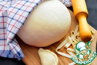 Рецепт: Постное тесто для вареников и лапши