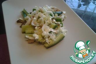 Рецепт: Весенний салат с вешенками