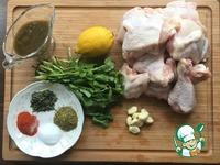 Курица, маринованная с кинзой и мятой ингредиенты