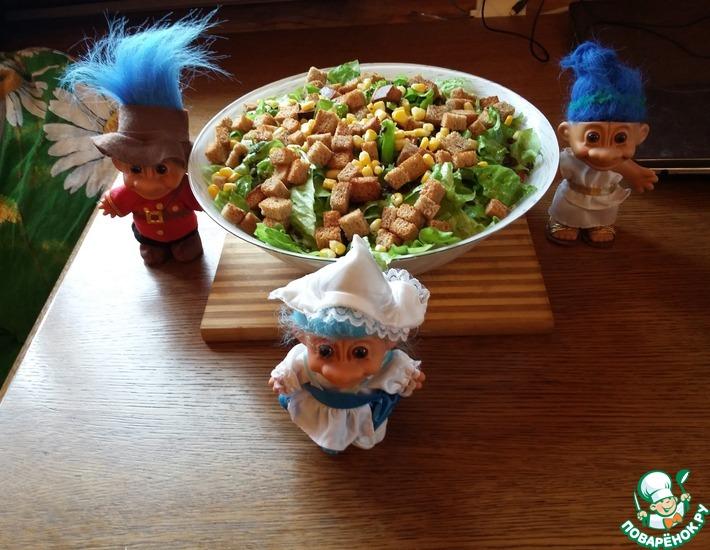 Рецепт: Салат Слойка с сухариками