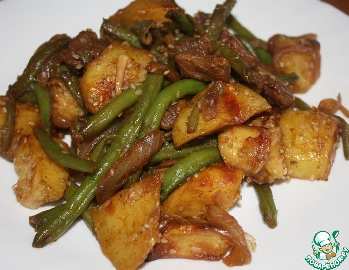 Рецепт: Картофель с мясом Азиатский вариант