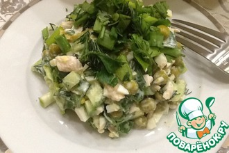 Рецепт: Легкий салат Почти Оливье