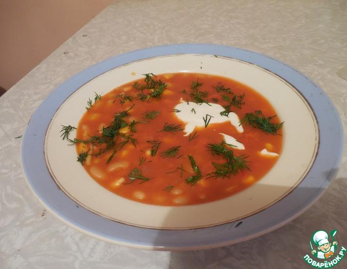 Рецепт: Суп фасолево-кукурузный