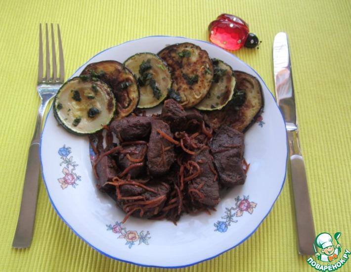 Рецепт: Вяхирь с овощами