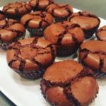 Шоколадные кексы с хрустящей корочкой