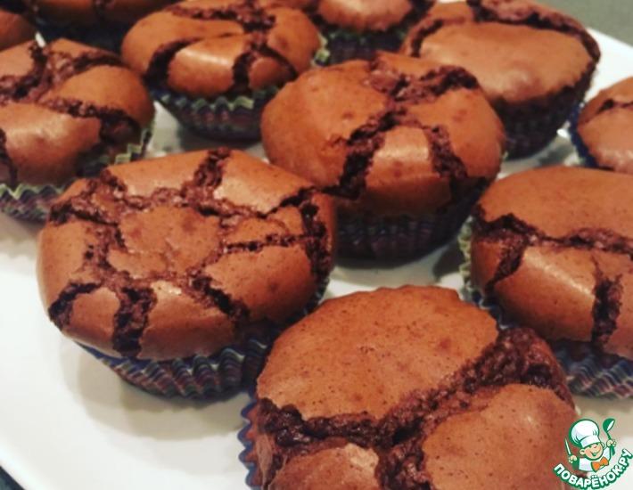Рецепт: Шоколадные кексы с хрустящей корочкой