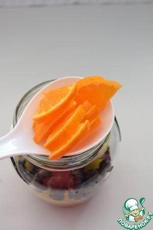 Нарезанный мандарин или апельсин