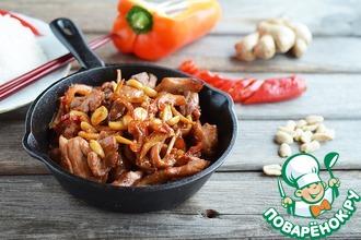 Рецепт: Курица Гунбао и рис Гохан
