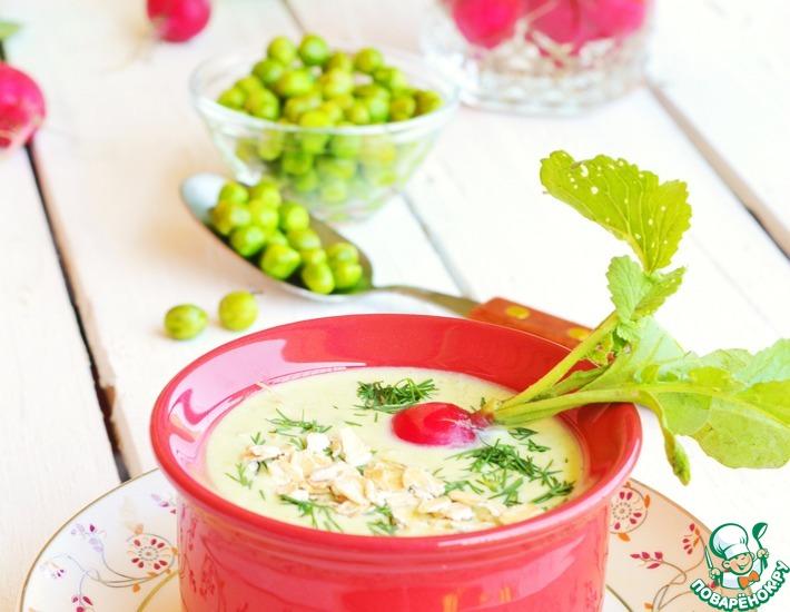 Рецепт: Холодный овсяный суп-пюре с овощами