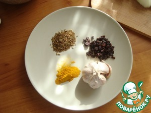 Spices that we need for pilaf.