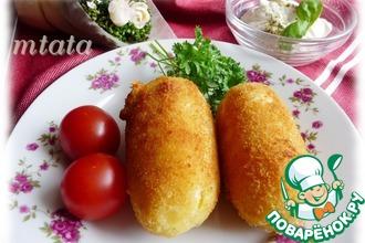 Рецепт: Картофельные крокеты с моцареллой