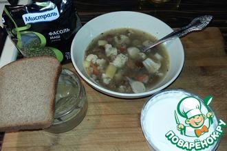 Рецепт: Суп с фасолью и цветной капустой