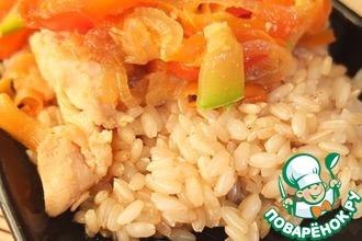 Рецепт: Рис с курицей и овощами