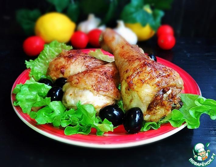 Рецепт: Куриные голени Сливочные