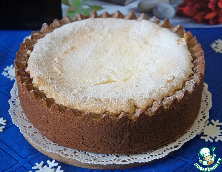 Рецепт: Пирог Брусника под снегом
