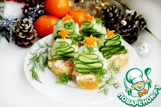 Рецепт: Бутерброды Ёлочки