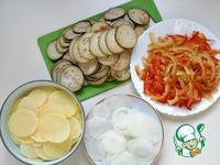 Печень запеченная с овощами в сковороде ингредиенты