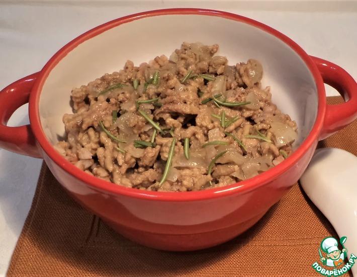 Рецепт: Гречка с фаршем Быстрый ужин