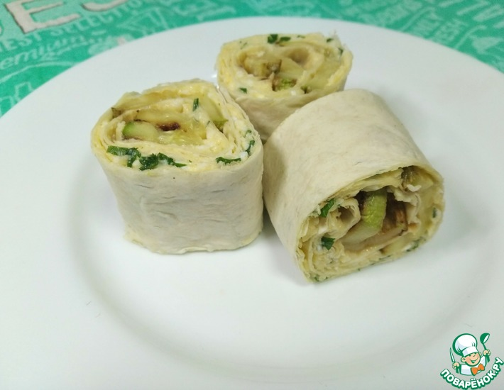 Рецепт: Закуска с кабачком в лаваше