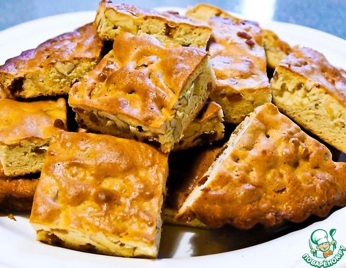 Рецепт: Пирог из сахарного теста с орехами