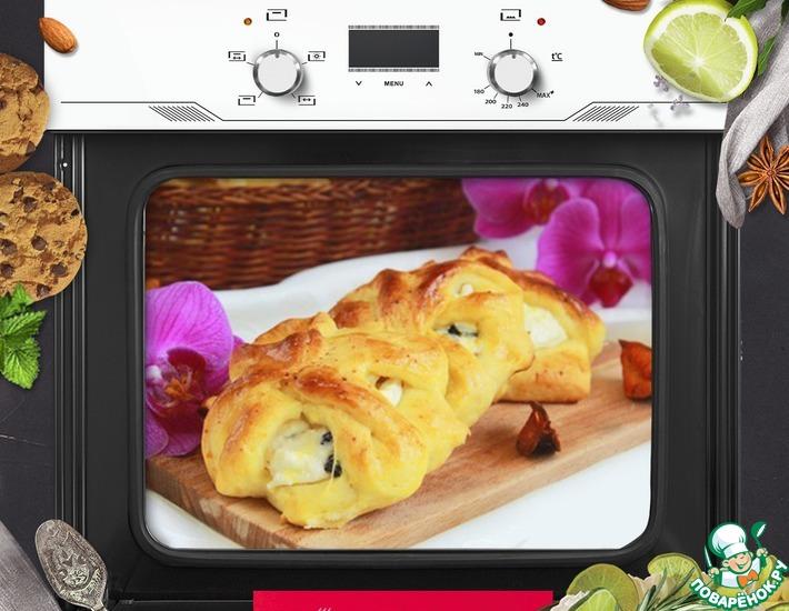Рецепт: Сдобные творожные булочки Цветочки