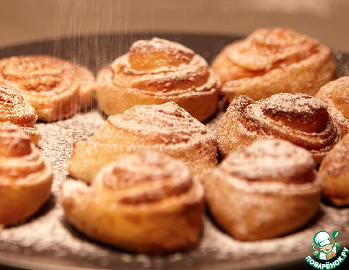 Рецепт: Творожное печенье Чайные розочки