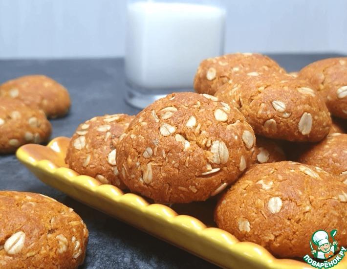 Рецепт: Овсяно-кокосовое печенье