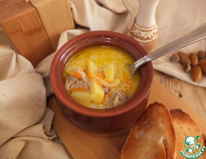 Рецепт: Куриный сливочный суп