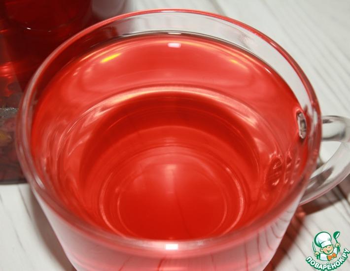 Рецепт: Бруснично-ромашковый чай с мятой