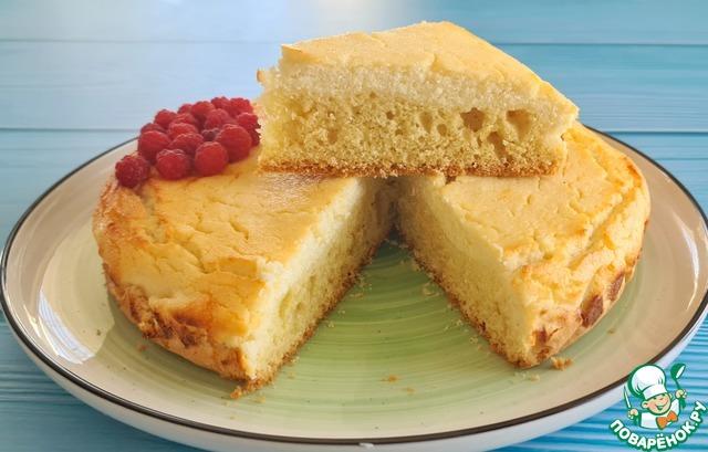 Пирог с творогом photo