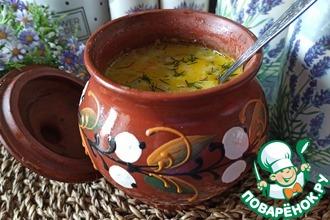 Рецепт: Молочно-грибной суп с кабачком