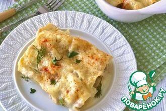 Рецепт: Каннеллони с грибами под сырным соусом