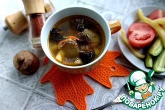 Рецепт: Суп рыбный по-царски из кефали