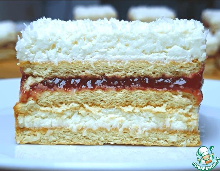 Рецепт: Торт без выпечки Услада